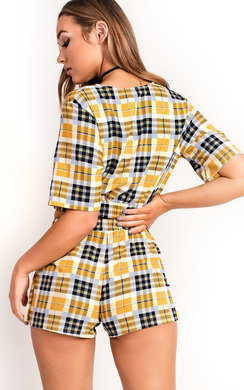 View the Jose Checked Mini Shorts Co-ord online at iKrush