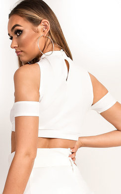 View the Juju Cut Out Halter Neck Crop Top online at iKrush
