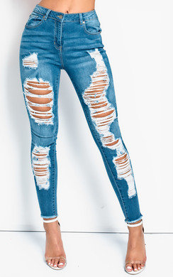 View the Jules Distressed Frayed Skinny Jeans  online at iKrush