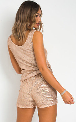 View the Julia Sequin Top and Shorts Co-ord  online at iKrush