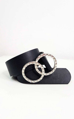 View the Juliana Diamante Faux Leather Belt online at iKrush