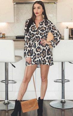 View the Julie Tie Waist Shirt Dress online at iKrush