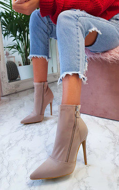 View the Juniper Zip Side Pointed Boots online at iKrush