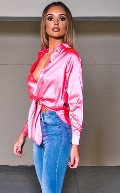 View the Kadi Tie Front Long Sleeve Shirt online at iKrush