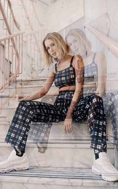View the Kadise Checked High Waist Co-ord online at iKrush