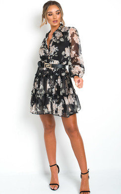 View the Kaggie Floral Shirt Dress online at iKrush