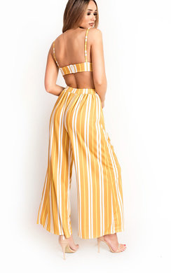 View the Kaia Wide Leg Striped Co-ord online at iKrush