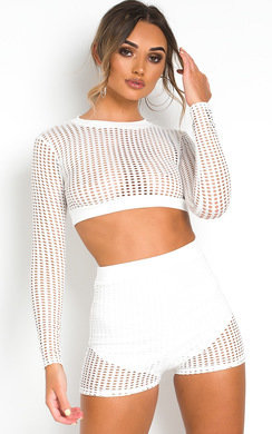 View the Kait Crochet Mesh Co-ord online at iKrush