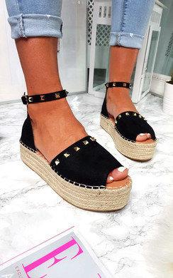 View the Kandi Studded Espadrille Flatform Sandal online at iKrush