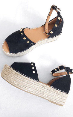 View the Kandi Studded Espadrille Flatform Sandal online at iKrush