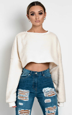 View the Karah Fleece Soft Crop Jumper online at iKrush