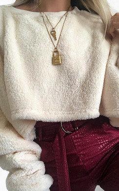 View the Karah Fleece Soft Crop Jumper online at iKrush