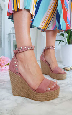 View the Karlie Studded Embellished Wedged Heels online at iKrush