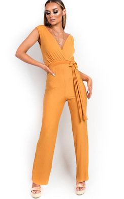 View the Kasia Stripe Belted Stretch Jumpsuit online at iKrush