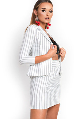 View the Kassi Pin Striped Blazer  online at iKrush