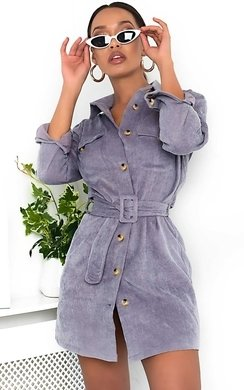79bc2bfd20b View the Kassie Cord Tie Waist Shirt Dress online at iKrush