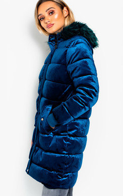 View the Kat Long-Lined Sleeved Puffer Coat online at iKrush