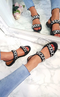 View the Katerina Double Chain Strap Sandals online at iKrush