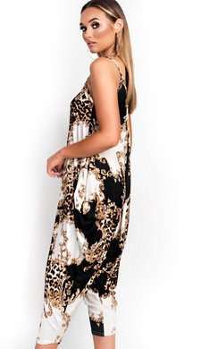 View the Katie Harem Stretch Print Jumpsuit online at iKrush