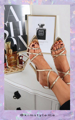 View the Katie Strappy Pointed High Heels  online at iKrush