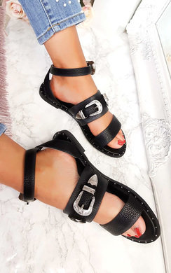 View the Katja Double Buckle Strapped Sandals  online at iKrush