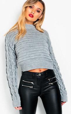 View the Kaya Chunky Knit Cropper Jumper online at iKrush