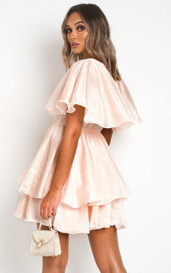 View the Kaya Layered Frill Mini Dress online at iKrush