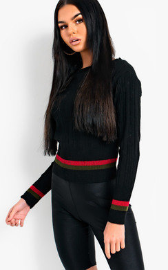 View the Kaylee Knitted Stripe Jumper online at iKrush