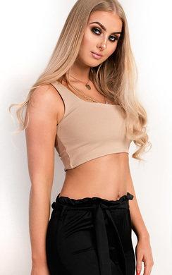 View the Kaylee One Shoulder Crop Top online at iKrush