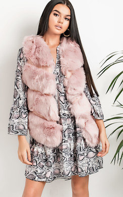 View the Kayleigh Faux Fur Gilet online at iKrush