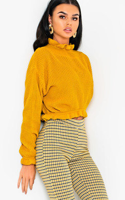 View the Kaylin Knitted Cropped Jumper online at iKrush