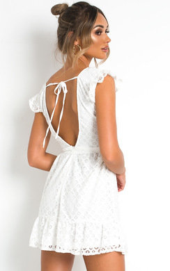 View the Kaz Crochet Lace Mini Dress online at iKrush