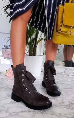 View the Keeks Lace Up Biker Boots online at iKrush