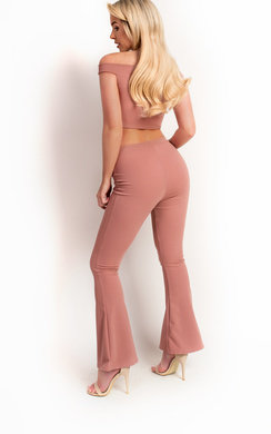 View the Kelli Stretch Bow Wide Leg Co-ord online at iKrush