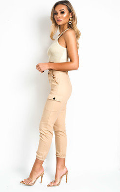 View the Kelsie Cuffed Cargo Trousers online at iKrush