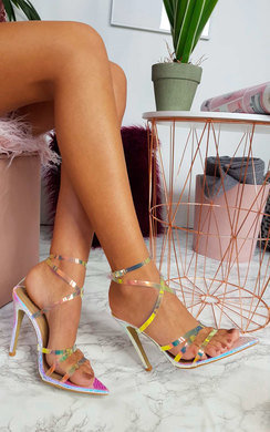 View the Kelsie Strappy Pointed High Heels  online at iKrush