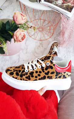 View the Kendall Leopard Chunky Trainers  online at iKrush