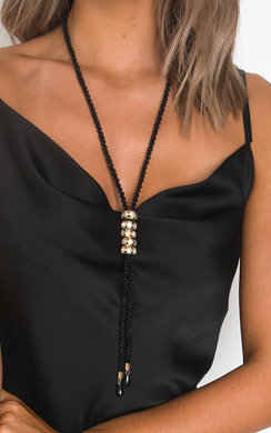 View the Kendra Beaded Diamante Long Necklace  online at iKrush