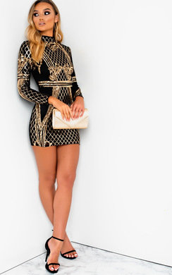 View the Kennie Sequin Embellished Mini Dress online at iKrush