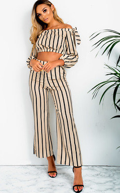 View the Kennie Stripe Off Shoulder Co-ord online at iKrush