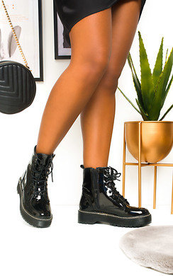 View the Kenny Lace Up Biker Boots online at iKrush