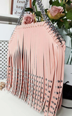 View the Kerri Studded Fringe Crossover Bag online at iKrush