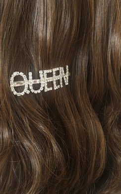 View the Kiki Queen Slogan Diamante Hair Clip online at iKrush