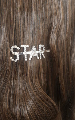 View the Kiki Star Slogan Diamante Hair Clip online at iKrush
