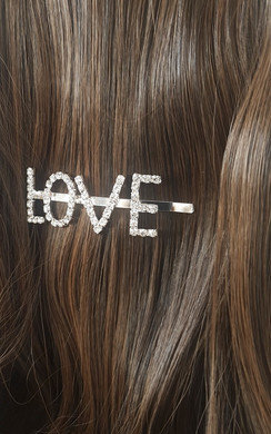View the Kiki Love Slogan Diamante Hair Clip online at iKrush