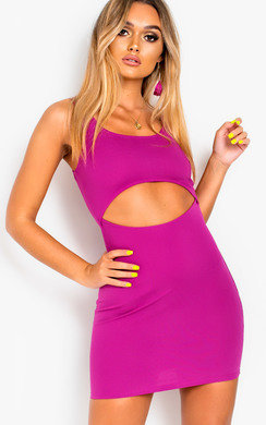View the Kimmie Bodycon Cut Out Mini Dress online at iKrush