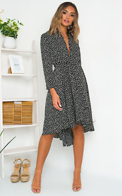 View the Kimmie Ditsy Print Midi Dress online at iKrush