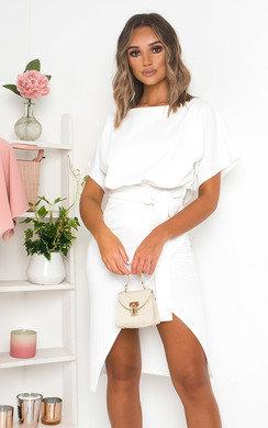 View the Koni Tie Waist Batwing Midi Dress  online at iKrush
