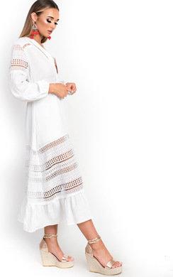 View the Kori Crochet Lace Cardigan Dress  online at iKrush