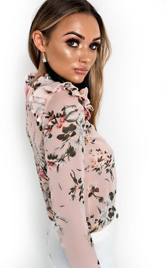 View the Krissy Floral Frilled Blouse online at iKrush
